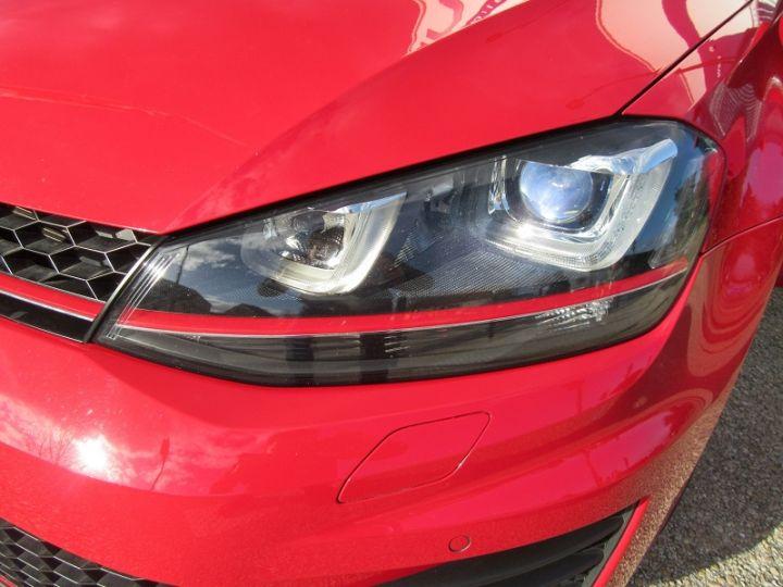 Volkswagen Golf VII GTI 2.0 TSI 220CH BLUEMOTION TECHNOLOGY DSG6 5P Rouge Occasion - 12