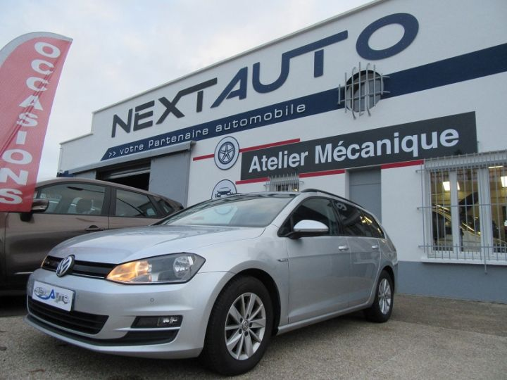Volkswagen Golf VII SW 1.6 TDI 110CH BLUEMOTION FAP TRENDLINE BUSINESS Gris Clair Occasion - 1