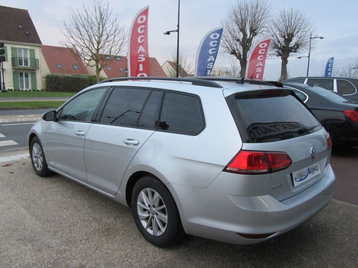 Volkswagen Golf VII SW 1.6 TDI 110CH BLUEMOTION FAP TRENDLINE BUSINESS Gris Clair Occasion - 3