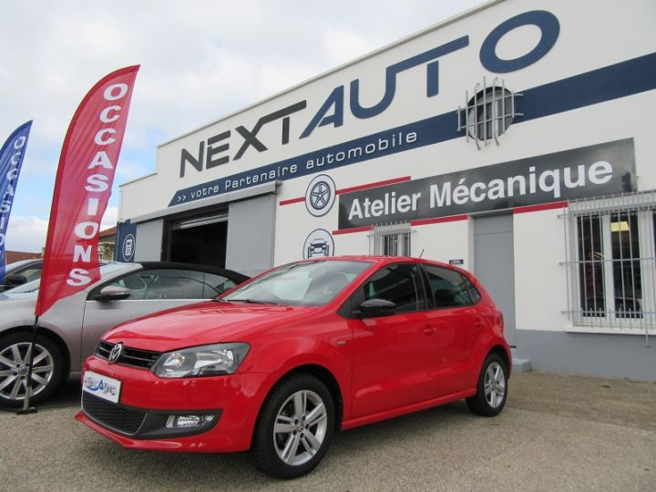 Volkswagen Polo 1.2 60CH MATCH 5P Rouge Occasion - 1