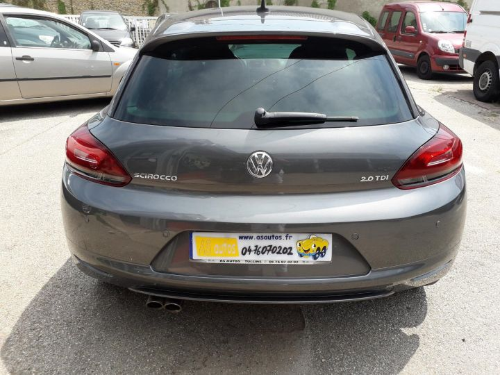 Volkswagen Scirocco VOLKSWAGEN SCIROCCO 2.0 TDI 140 EDITION SPORT FINITION R-LINE GRIS FONCE - 4