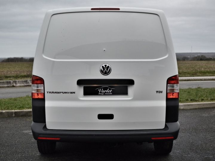 Volkswagen T5 VW TRANSPORTER T5 2.0 TDI 102CH 1ère main CLIM ENTRETIEN EXCLU. VW TVA RÈCUP BLANC - 5