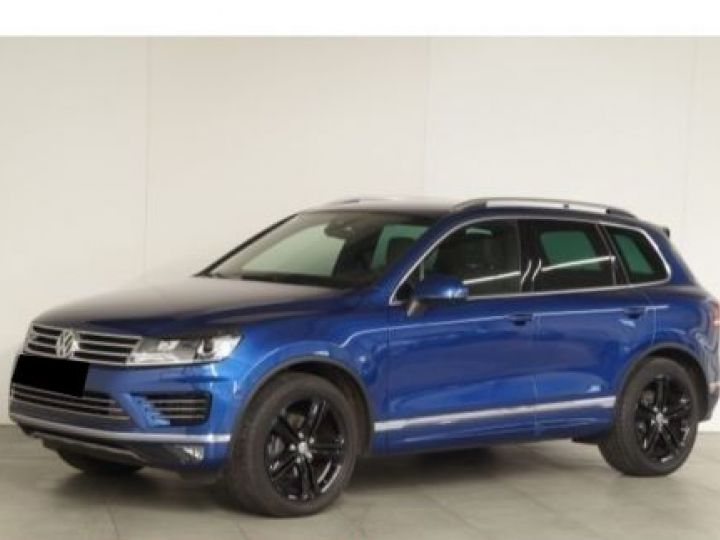 Volkswagen Touareg 3.0 V6 TDI 262CH BLUEMOTION TECHNOLOGY R-LINE 4MOTION TIPTRONIC BLEU Occasion - 1