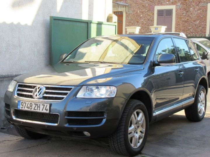 Volkswagen Touareg 5.0 V10 TDI 313CH TIPTRONIC GRIS FONCE Occasion - 1