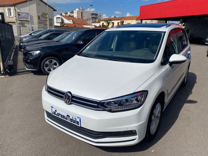 Volkswagen Touran 1.6 TDI 115cv confortline business  pack led blanc nacre - 1