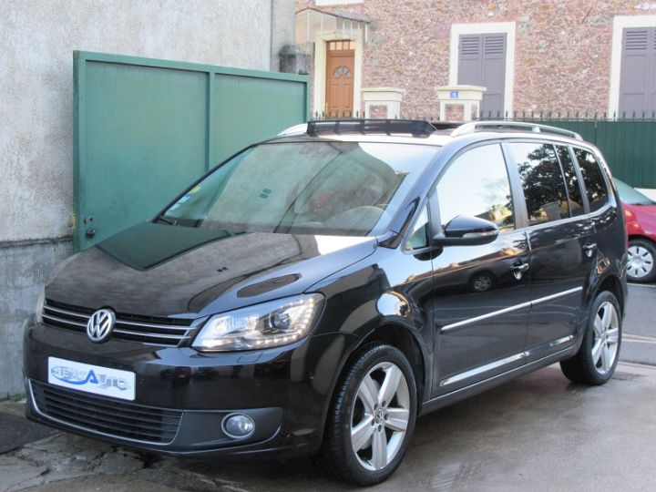 Volkswagen Touran 2.0 TDI 177CH FAP CARAT DSG6 NOIR Occasion - 1