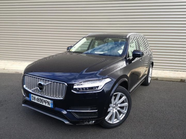 Volvo XC90 2 ii d5 225 awd inscription luxe 7 pl i Bleu Occasion - 1