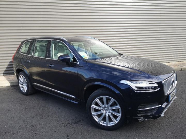 Volvo XC90 2 ii d5 225 awd inscription luxe 7 pl i Bleu Occasion - 2