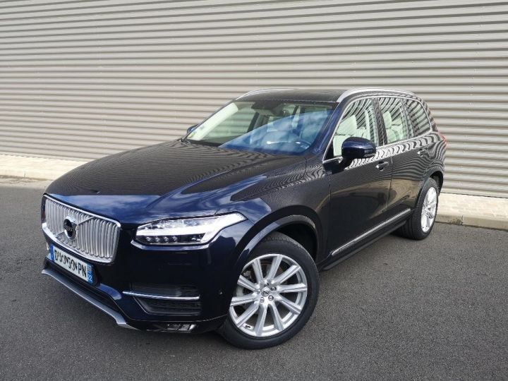 Volvo XC90 2 ii d5 225 awd inscription luxe 7 pl i Bleu Occasion - 10