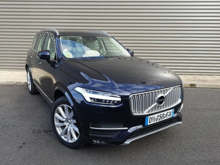 Volvo XC90 2 ii d5 225 awd inscription luxe 7 pl i Bleu Occasion - 11