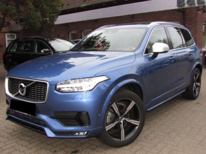 Volvo XC90 T6 AWD 310CH R-DESIGN GEARTRONIC 7 PLACES BLEU Occasion - 1