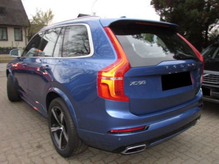 Volvo XC90 T6 AWD 310CH R-DESIGN GEARTRONIC 7 PLACES BLEU Occasion - 5