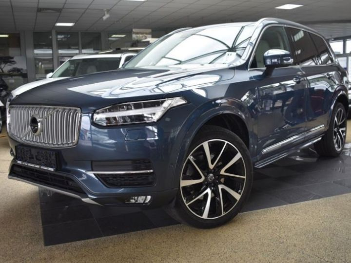 Volvo XC90 T6 AWD 320CH INSCRIPTION LUXE GEARTRONIC 7 PLACES BLEU Occasion - 1