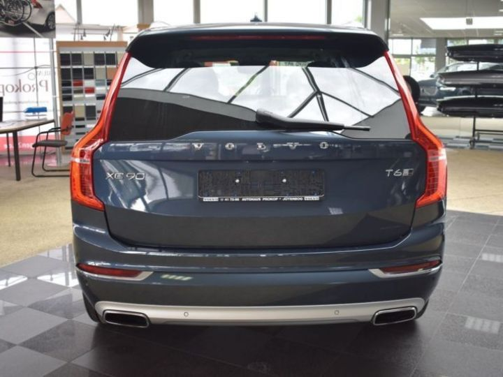 Volvo XC90 T6 AWD 320CH INSCRIPTION LUXE GEARTRONIC 7 PLACES BLEU Occasion - 4
