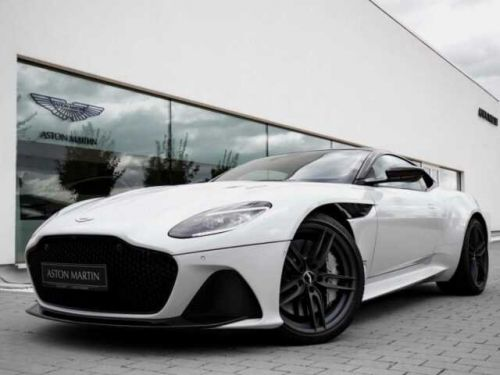 Aston Martin DBS SUPERLEGGERA#Cuir Blanc Argento métal Dynamic Futurist
