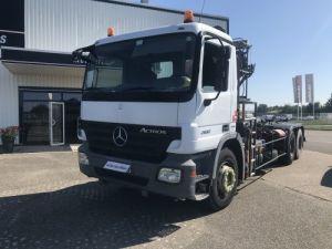 Camion porteur Mercedes Actros Ampliroll + grue 26.32 VERSION 6X4  Occasion