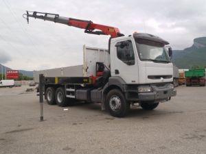 Camion porteur Renault Kerax Plateau + grue Occasion