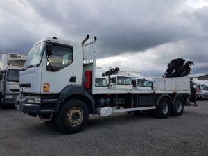 Camion porteur Renault Kerax Plateau + grue 370dci.26 6x4 + HIAB 195.3 Occasion