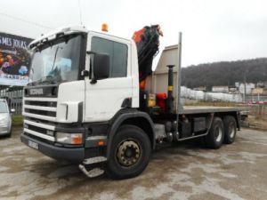 Camion porteur Scania R Plateau + grue R340 Occasion