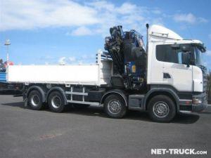Camion porteur Scania R470 8x4 Plateau + grue Occasion