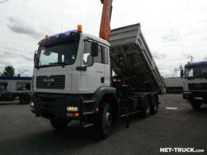 Camión Man TGA Volquete bilaterales y trilaterales + grúa Occasion