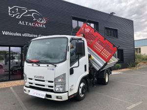 Chassis + body Isuzu 2/3 way tipper body + crane 135 150 CV TRIBENNE GRUE MARBRERIE FUNERAIRE RADIO COMMANDE Occasion