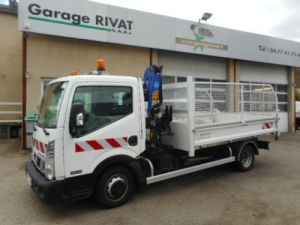 Chassis + body Nissan Cabstar 2/3 way tipper body + crane NT400 35.14 BENNE + GRUE Occasion