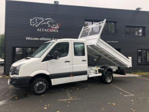 Chassis + body Volkswagen Crafter Back Dump/Tipper body benne double cabine 7 places crochet Occasion