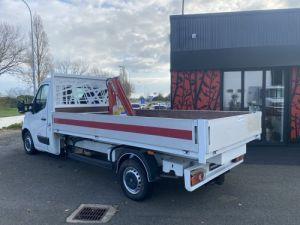 Chassis + body Renault Master Platform body + crane PLATEAU RIDELLES GRUE Occasion