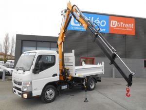 Chassis + body Mitsubishi Canter Tipper body + crane FUSO 35S15 N28, 3.0L 150CV Benne et Grue EFFER DISPONIBLE Neuf