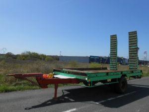 Remolque Cazenave Gondola lleva maquinas PORTE-ENGINS 1 essieu Occasion