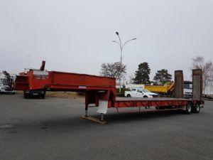 Remolque Kaiser Gondola lleva maquinas Porte-engins 2 essieux  Occasion