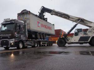 Remolque Transporte de contenedores Plateau Occasion