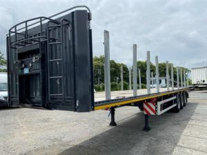 Remorque Kässbohrer Porte container KASSBOHRER 3 ESSIEUX PLATEAU MULTIMODAL PORTE CONTENEURS Occasion