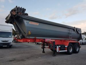 Trailer Fruehauf Back Dump/Tipper body BENNE ENROCHEMENT 24M3 acier HARDOX Occasion