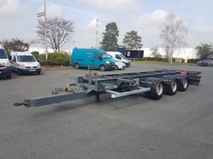 Trailer Frejat Container carrier body PORTE-CAISSE MOBILE 7m80 Occasion