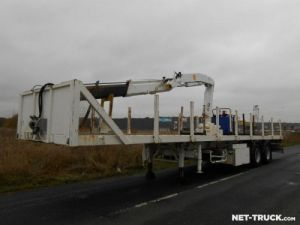 Trailer Metaco Platform body + crane Occasion