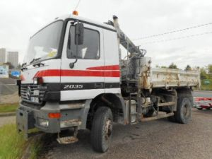Trucks Mercedes Actros 2/3 way tipper body + crane 2035   4X4 Occasion