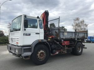 Trucks Renault Maxter 2/3 way tipper body + crane G230ti.19 Occasion