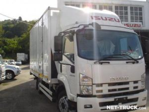 Trucks Isuzu NQR Box body + Lifting Tailboard Occasion