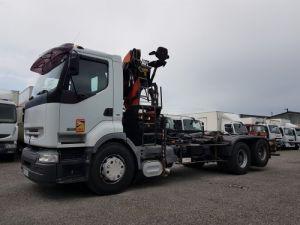 Trucks Renault Premium Hookloader Ampliroll body + crane 420dci.26 6x2 J - GUIMA S20 + PK12000 Occasion