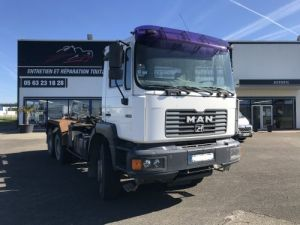 Trucks Man 33-414 Hookloader Ampliroll body 414CV 6X4 AVEC 1 BENNE  Occasion