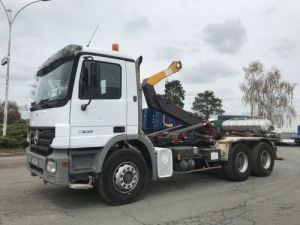 Trucks Mercedes Actros Hookloader Ampliroll body 2632 KN 6x4 Occasion