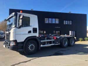 Trucks Scania Hookloader Ampliroll body 410 Occasion