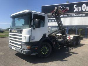 Trucks Scania P Hookloader Ampliroll body 114 VERSION 6X2 380CV Occasion