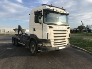 Trucks Scania R Hookloader Ampliroll body 480 VERSION 6X4 INTARDER  Occasion