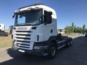 Trucks Scania R Hookloader Ampliroll body 480 VERSION 6X4 INTARDER Occasion