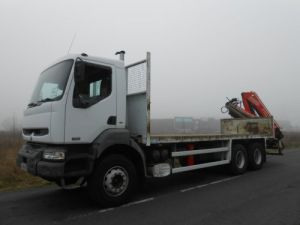 Trucks Renault Kerax Platform body + crane 370dci.26 6x4 DISTRIBUTION Occasion