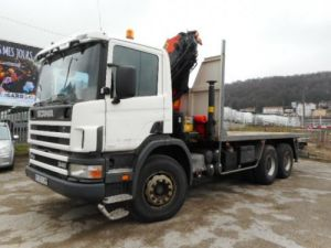 Trucks Scania R Platform body + crane R340 Occasion