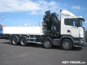 Trucks Scania R470 8x4 Platform body + crane Occasion
